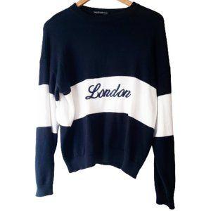 Brandy Melville RARE London Knit Cotton Sweater